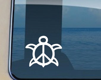 Turtle Peace Decal Hawaiian Sealife Sticker 494