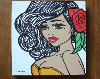 """Peggy 8x8"""" print on wood, home decor by Brenda Dunn. ON SALE FROM 30"""