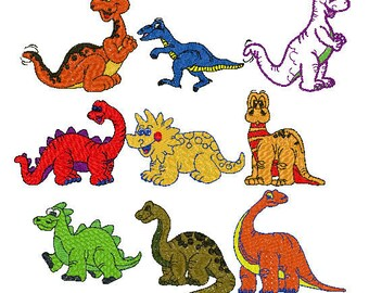 cute dinosaur embroidery designs 9 different dinos pes instant download