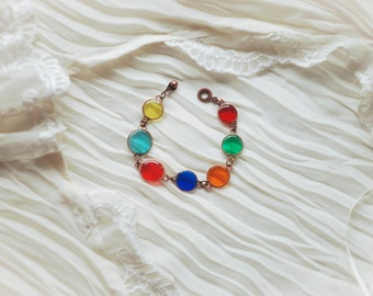 Bright Bracelet. Rainbow Bracelet. Summer Bracelet. Colored Bracelet.
