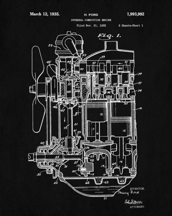 Engine poster engine patent print engine art blueprint engine poster engine patent print engine art blueprint mechanic tech decor malvernweather Images