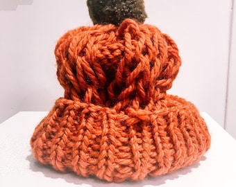 Orange and Brown tassel Hat