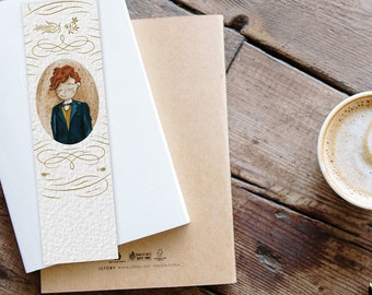 Newt Portrait Bookmark - Fantastic Beasts - Watercolor - Illustration - Print - Bookish - Reading