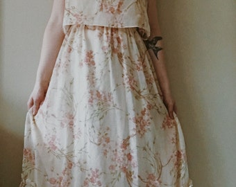 Floral Ivory Handmade Gown