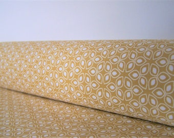 Coupon, mustard yellow petals, 50 x 30 cm, fabric cotton