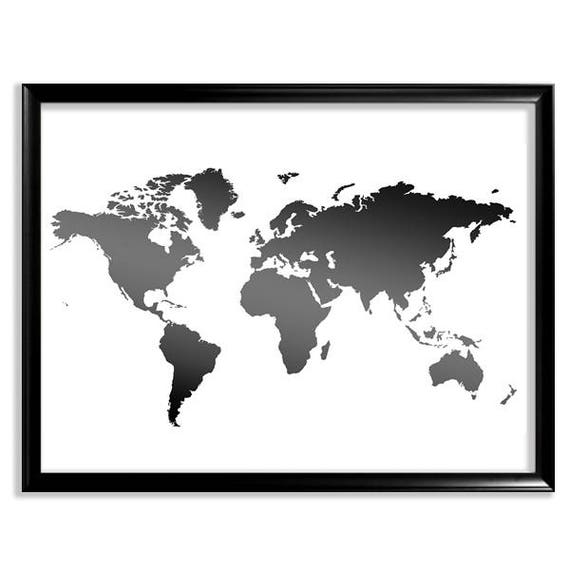 World map printable world map map print black and white map gumiabroncs Gallery