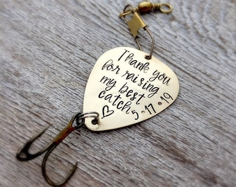 Father of the Groom Gift Personalized Fishing Lure - Father Gift from Daughter In Law   - Wedding - My Best Catch - Fishing Gift for Him