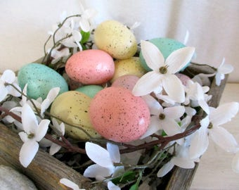 Easter Eggs Robin's Eggs Easter Decoration 12 Speckled Eggs Spring Decoration Fake Eggs Table Centerpiece Vase Filler Easter Basket Filler