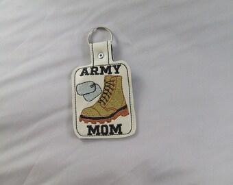 Army mom key fob