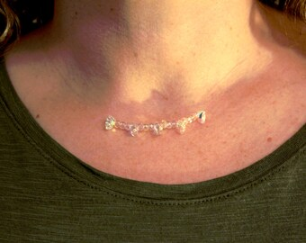 Swarovsky crystal floating necklace
