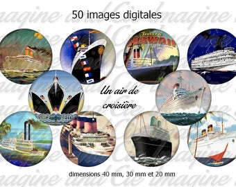 An air of cruise / Cabochon digital image instant download collage sheet digital bottle cap printable instant download