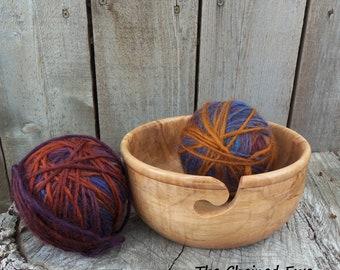 Wooden Yarn Bowl, Box Elder