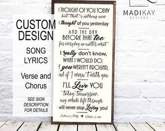 Song Lyric Art, Wedding Song Lyrics, That's What Friends are For, Custom Song Lyric Wall Art Sign, 1st anniversary gift, 10th anniversary