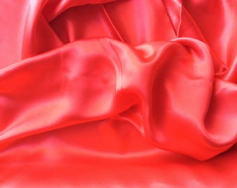 High quality silky sateen, very close to genuine silk sateen. Red No10