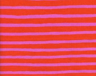 Cheshire Stripe Orange - Wonderland - Anna Bond Rifle Paper Co - Cotton + Steel - 8022-01