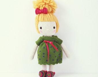 Crochet doll -  Summer forest girl