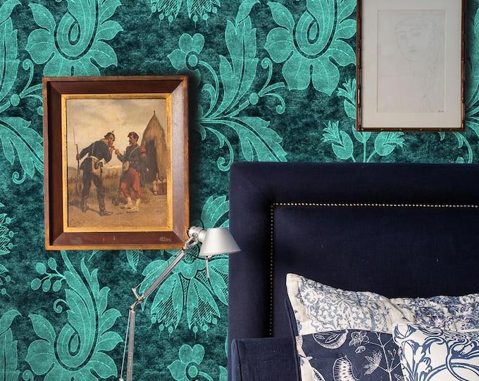 Damask wallpaper, damask, damask fabric, damask paper, home decor, floral wallpaper, wallpaper, damask pattern, removable wallpaper, vintage
