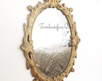 Oval Wall Mirror Antique Bathroom Vanity Mirror French Farmhouse
