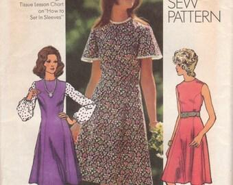 Simple Princess Seam Dress Pattern Simplicity 9850 Size 16