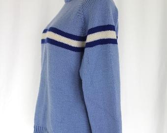 Handmade Striped Varsity Sweater