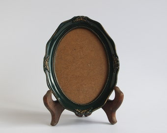 Vintage Green Oval Photo Frame