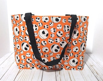 Tote Bag, The Nightmare Before Christmas Tote, Jack Skellington Tote, Christmas, Under 20 dollars, Gift, Gift for her, Halloween