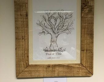 Oak tree fingerprint guest books