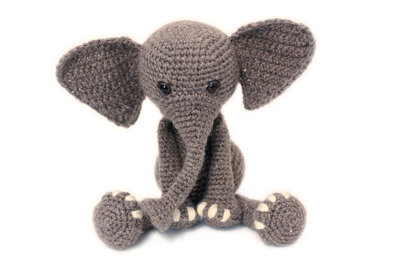 Crochet PATTERN Elephant, Elephant, Amigurumi Elephant, Stuffed ...