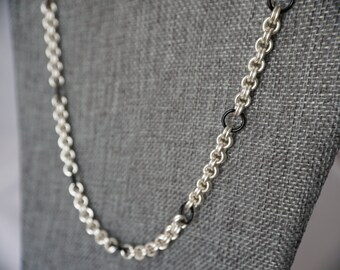 Double Chainmaille Ring Necklace