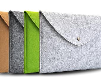 "Wool Felt Laptop Sleeve Case/ Notebook Bag /Horizontal style MacBook Air Pro Retina 13"" Cover"