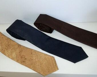 Cork Tie - Natural Cork Unisex Tie - Necktie Made in Cork - 100% Natural Portuguese Cork - Original Gift