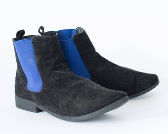 Vintage 90's Women's Black Chelsea Leather Ankle Boots UK 6 EU 39 US 8