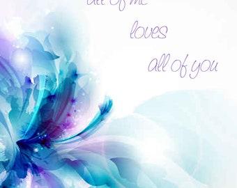 All of Me | John Legend Inspired Lyric Art Print
