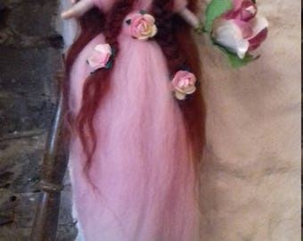handmade felted wool fairy