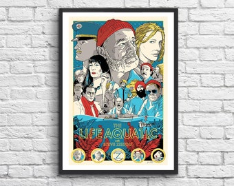 Art-Poster 50 x 70 cm - The Life Aquatic