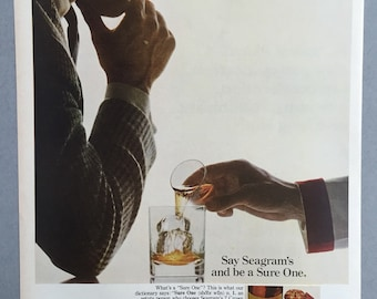 1967 Seagram's 7 Crown Whiskey  Print Ad