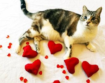 All Heart Organic Catnip Toy (Organic Hemp Fabric) Burgundy