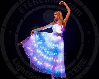 Smart LED light up dance dress galaxy gown design from ETEREshop