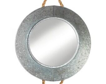 Rustic tin wall mirror