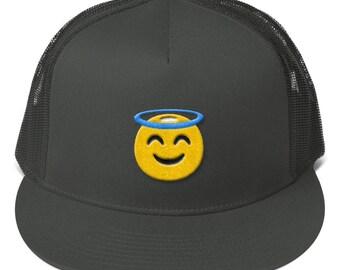 Angel Emoji Mesh Back Snapback