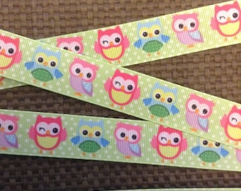 Owl Ribbon 7/8'
