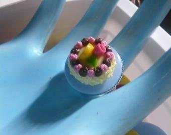 Ring gourmet * my treat * polymer clay