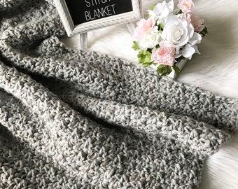 Crochet Throw Blanket Pattern- Crochet Pattern- Blanket Pattern- Thick Blanket Pattern- Warm Blanket- Crochet Blanket Pattern