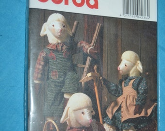 Burda 4236  Lambs and Clothes Sewing Pattern - UNCUT