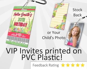 Succulents Invitation PLASTIC Succulents, Succulents Invitation, Birthday Invitation, Birthday Invite, Succulents Birthday SKU-INV258