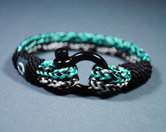 Sport Bracelet / Gold Bracelet / Bracelet Paracord / Bracelet Paracord / Mens Gift / Christmas Gift / Gift for him  / Bracelet Mens / Black