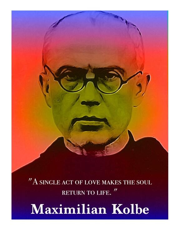 St Maximilian Kolbe Unique Inspirational Christian Catholic