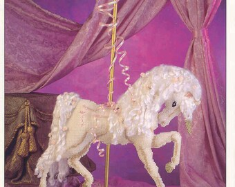 Carousel Unicorn  ~  plastic canvas pattern  ~  Annie's