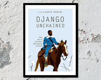 Django Unchained high quality film print (A5, A4, A3)