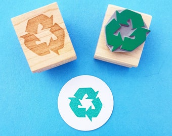 Recycle It Rubber Stamp - Recycyle Stamper - Upcycled - Recycling Symbol - Re-use - Packaging - Eco Stamp - Environment - Branding Label